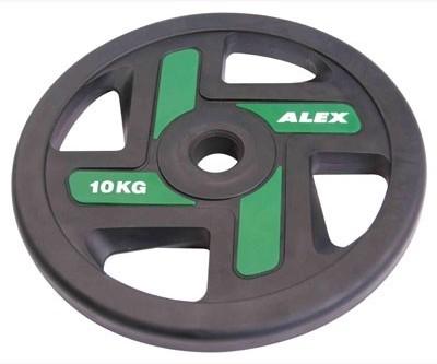 Ожидается Alex P-TPU-10K Полиуретановый диск ALEX, 4 отверстия, черный, 10 кг