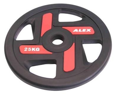 Ожидается Alex P-TPU-25K Полиуретановый диск ALEX, 4 отверстия, черный, 25 кг