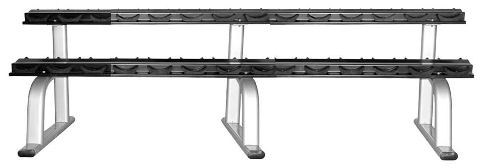 Стойки для гирь и гантелей Aerofit RK-ALB-1830-VL-15 Стойка для гантелей, 15 пар, платиновый