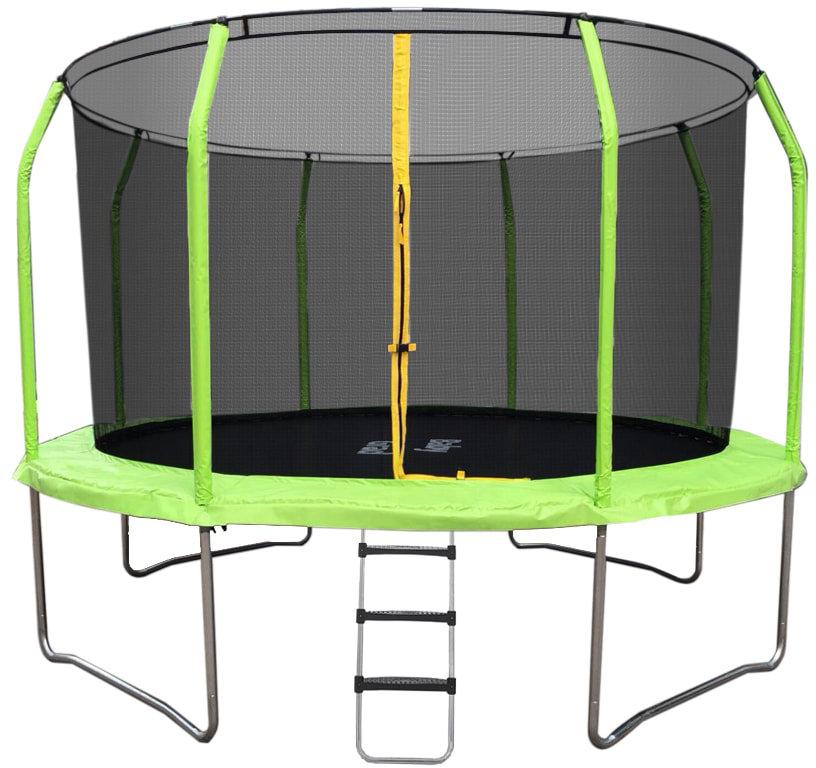 Батуты с защитной сеткой, диаметром от 12 футов (366 см) BabyGrad Батут с защитной сетью и лестницей