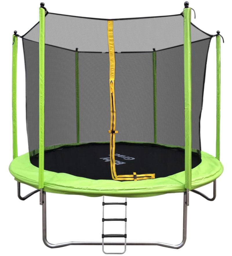 Батуты больших и средних размеров BabyGrad Батут с защитной сетью и лестницей