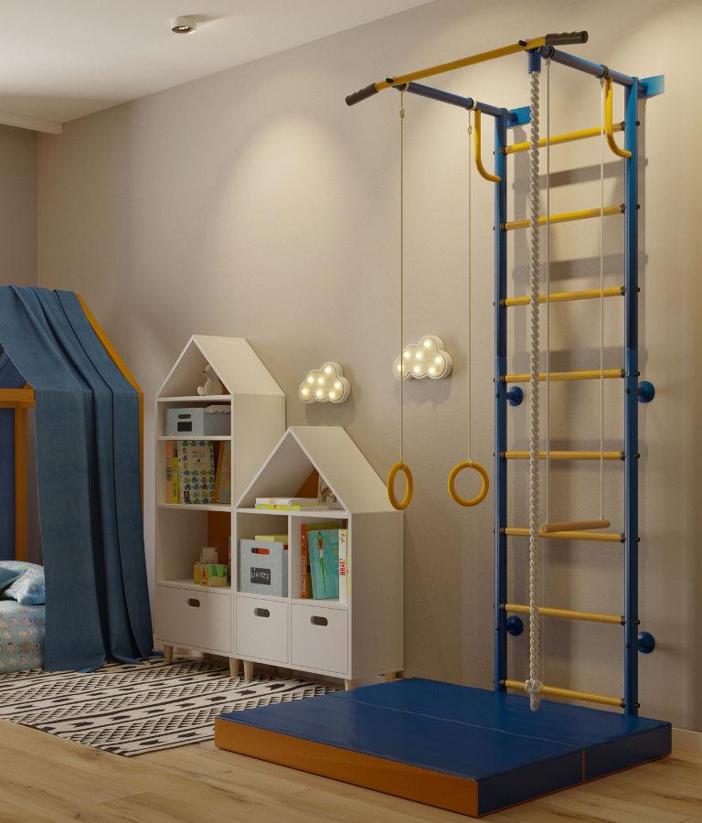 Г-образные комплексы (креплением стене) Детский Спорт (Городок) Домашний спортивный комплекс