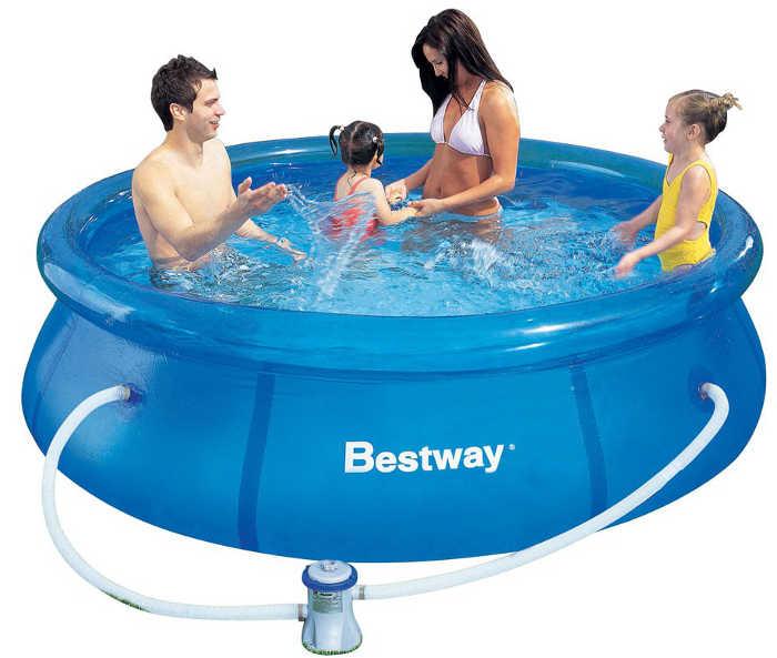 Бассейны и аксессуары для бассейнов BestWay 57100 Бассейн надувной, 244*66 см