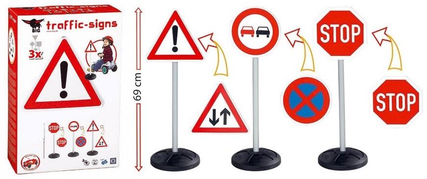 Прочее оборудование для детских площадок и игровых центров Big 1195 Игрушечные дорожные знаки Big-Traffic-Signs
