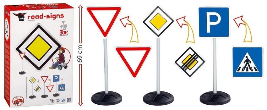 Ожидается Big 1196 Игрушечные дорожные знаки Big-Road-Signs
