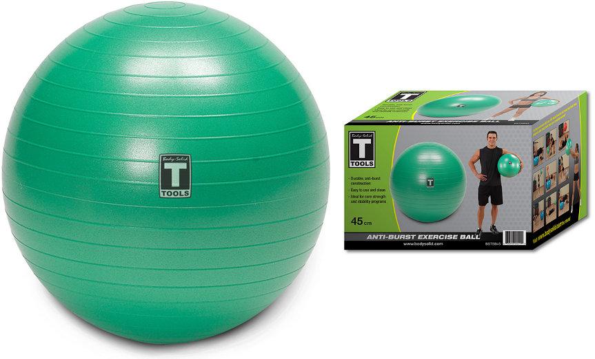 Гимнастические мячи Body Solid Гимнастический мяч, диаметр 45 см, BSTSB45