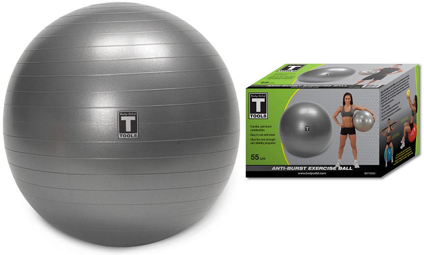 Гимнастические мячи Body Solid Гимнастический мяч, диаметр 55 см, BSTSB55