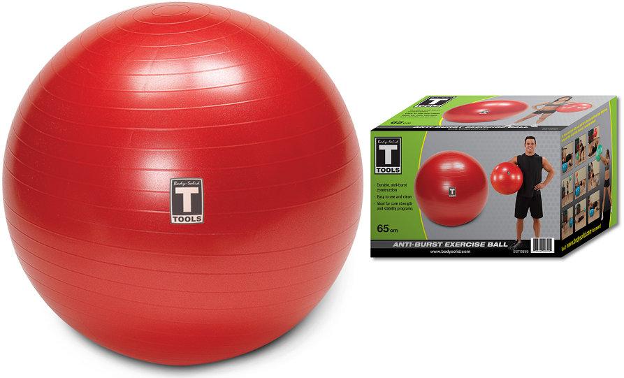 Гимнастические мячи Body Solid Гимнастический мяч, диаметр 65 см, BSTSB65