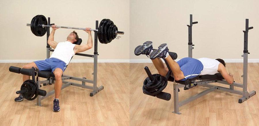 Скамьи и стойки Body Solid GDIB46L, Скамья со стойками универсальная, серия Olympic Benches