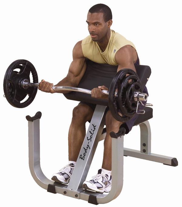 Тренажёры для мышц рук Body Solid GPCB329, Парта Скотта, линия SINGLE STATIONS