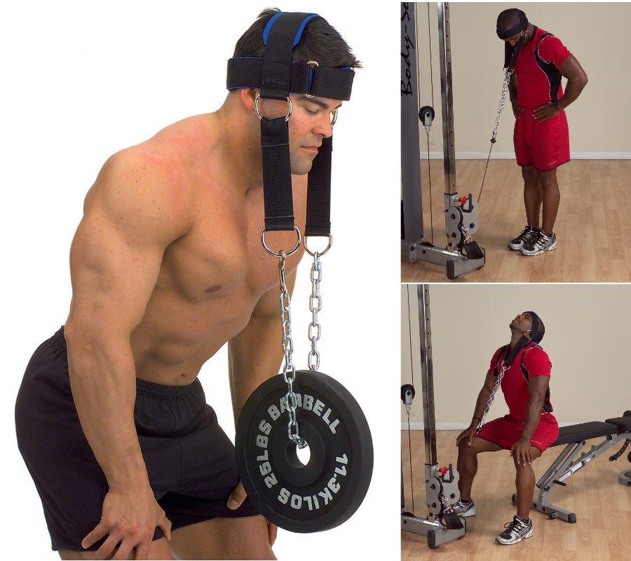 Аксессуары для тяжёлой атлетики Body Solid MA307N, Упряжь для тренировки мышц шеи (нейлон)