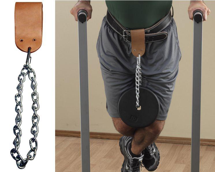 Аксессуары для тяжёлой атлетики Body Solid MA310, Аксессуар на ремень для подвешивания отягощений кожаный