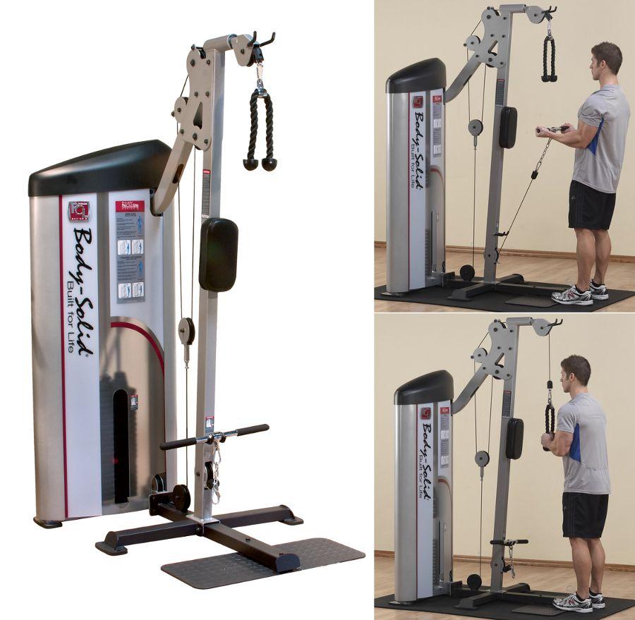 Тренажёры для мышц рук Body Solid S2BTP-1, Бицепс / трицепс машина с весовым стеком 72.5 кг, серия Pro Club Line S2