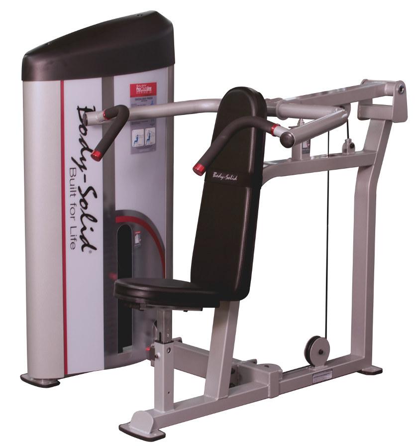Тренажёры для мышц плечевого пояса Body Solid S2SP-3, Вертикальный жим сидя с весовым стеком 141 кг, серия Pro Club Line S2