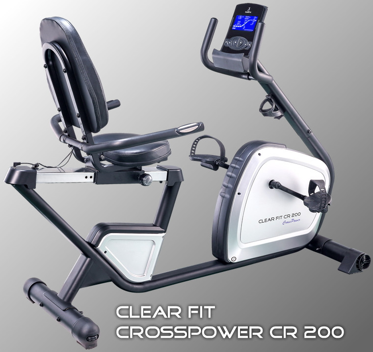Ожидается Clear Fit CR 200, Велотренажёр электромагнитный горизонтальный, серия CrossPower