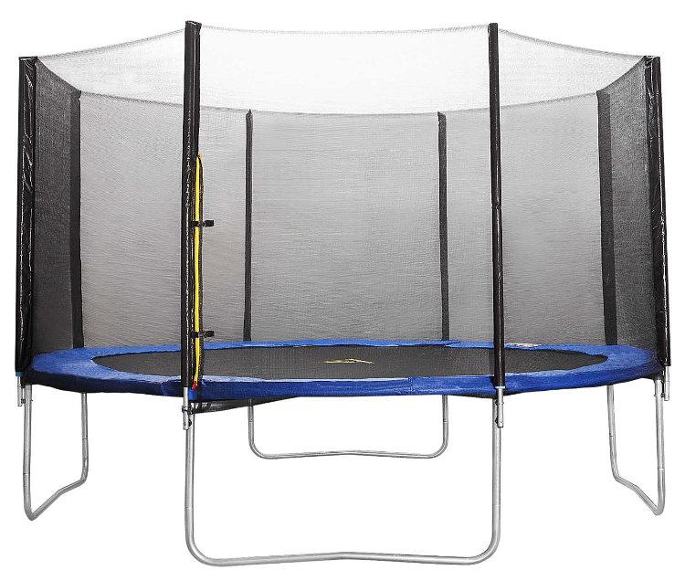 Батуты с защитной сеткой, диаметром от 3-х до 4-х метров DFC 12FT-TR-Е, Батут Trampoline Fitness 12 футов (366 см) с сеткой