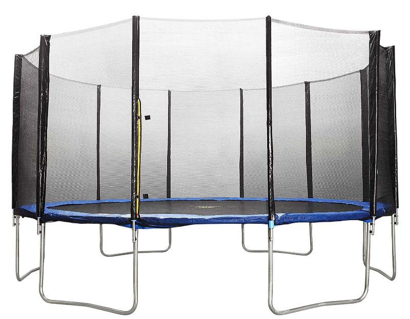 Батуты с защитной сеткой, диаметром от 4-х метров DFC 17FT-TR-Е, Батут Trampoline Fitness 17 футов (518 см) с сеткой