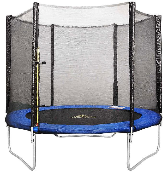 Батуты с защитной сеткой, диаметром до 3-х метров DFC 6FT-TR-Е, Батут Trampoline Fitness 6 футов (183 см) с сеткой