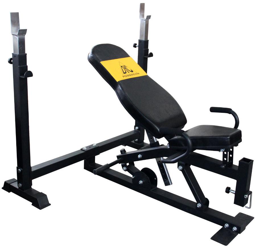 Скамьи, стойки и атлетические центры со свободной нагрузкой DFC Скамья силовая со стойками PowerGym, BN014