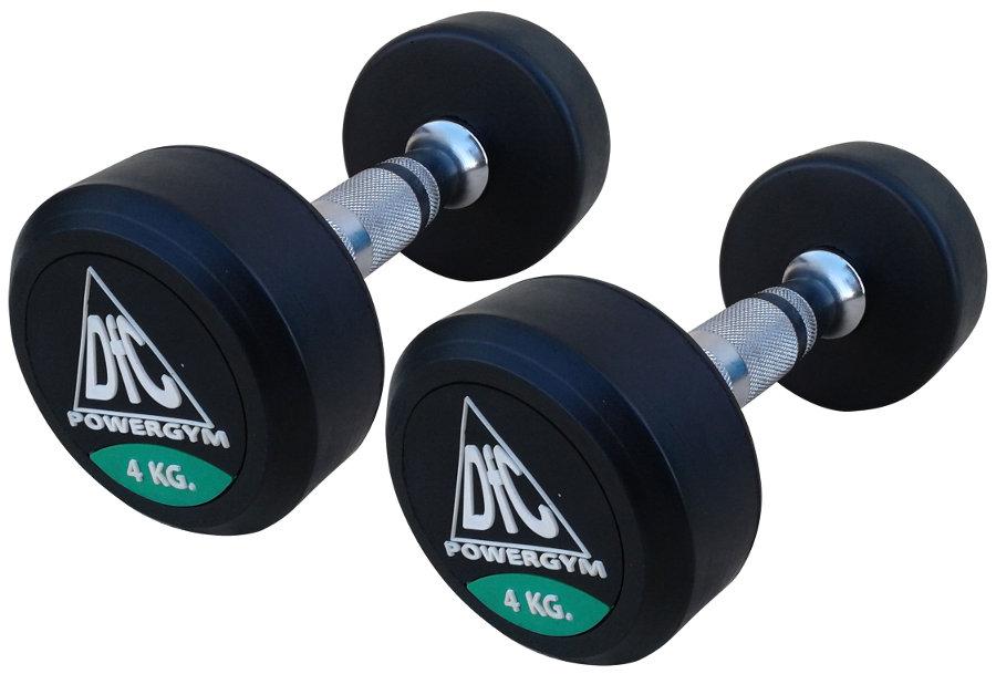 Гантельные ряды профессиональные, неразборные DFC DB002-4, Гантели 4 кг (пара), серия PowerGym