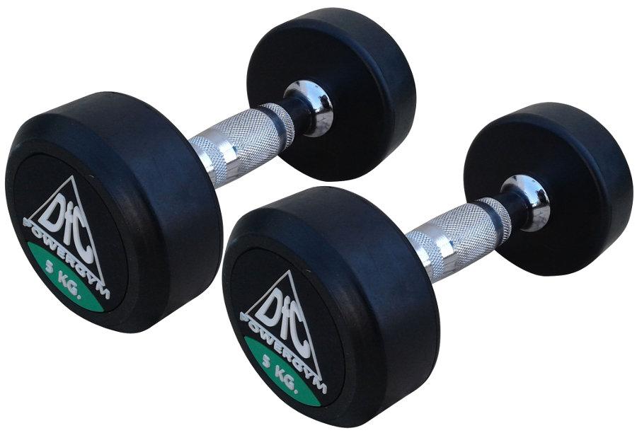 Гантельные ряды профессиональные, неразборные DFC DB002-5, Гантели 5 кг (пара), серия PowerGym