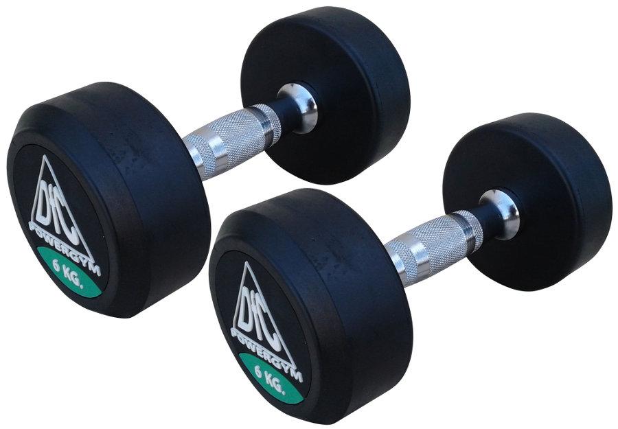 Гантельные ряды профессиональные, неразборные DFC DB002-6, Гантели 6 кг (пара), серия PowerGym