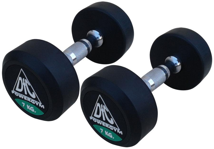 Гантельные ряды профессиональные, неразборные DFC DB002-7, Гантели 7 кг (пара), серия PowerGym