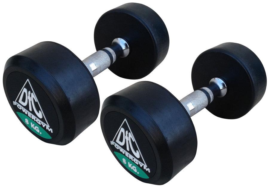 Гантельные ряды профессиональные, неразборные DFC DB002-8, Гантели 8 кг (пара), серия PowerGym