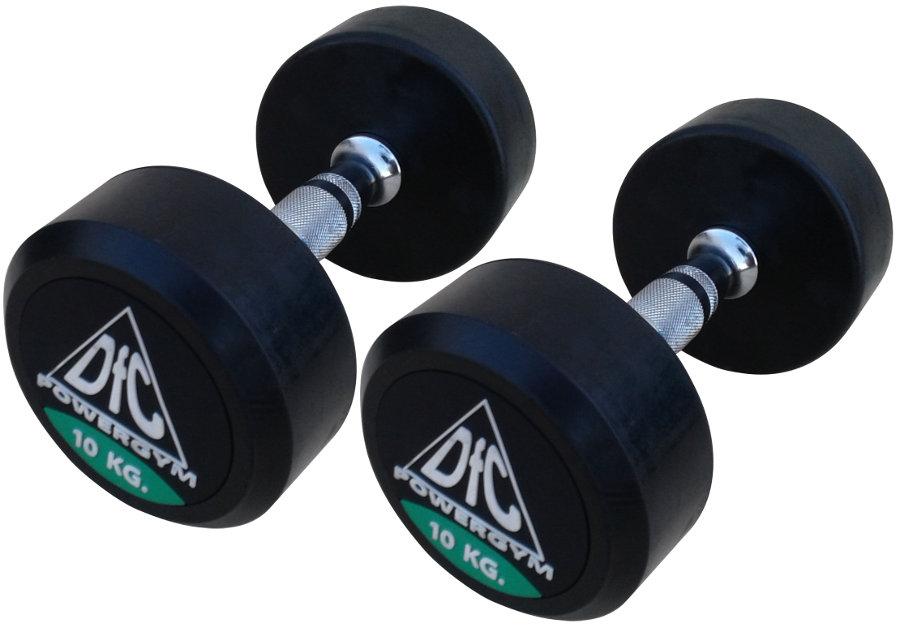 Гантельные ряды профессиональные, неразборные DFC DB002-10, Гантели 10 кг (пара), серия PowerGym