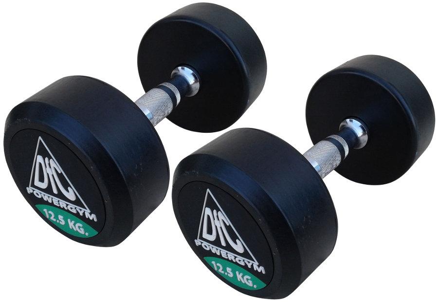 Гантельные ряды профессиональные, неразборные DFC DB002-12.5, Гантели 12.5 кг (пара), серия PowerGym