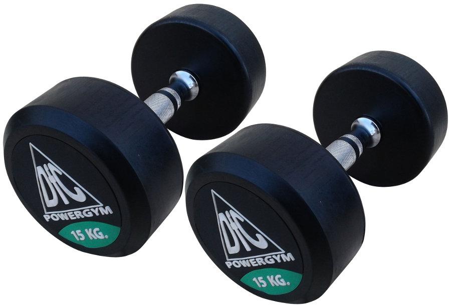 Гантельные ряды профессиональные, неразборные DFC DB002-15, Гантели 15 кг (пара), серия PowerGym