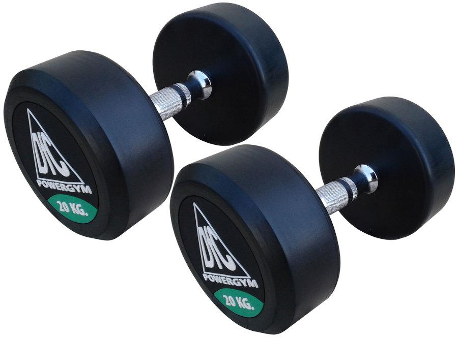 Гантельные ряды профессиональные, неразборные DFC DB002-20, Гантели 20 кг (пара), серия PowerGym