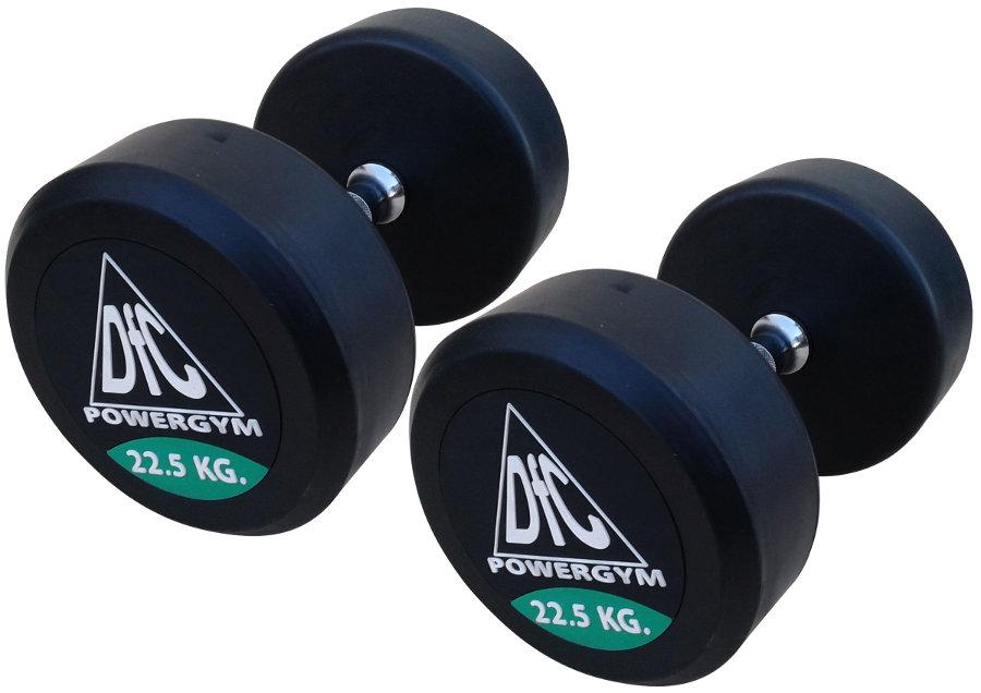 Гантельные ряды профессиональные, неразборные DFC DB002-22.5, Гантели 22.5 кг (пара), серия PowerGym