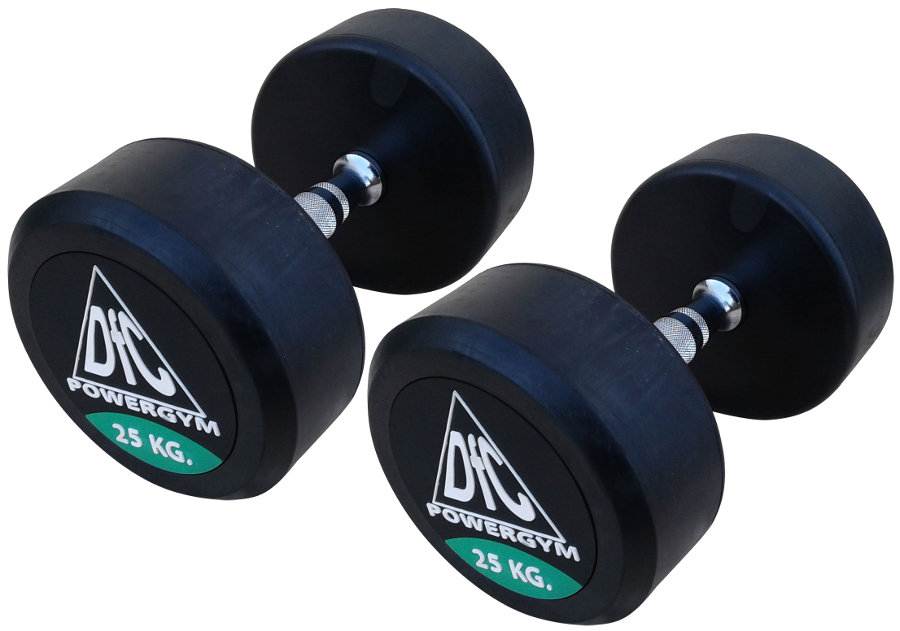 Гантельные ряды профессиональные, неразборные DFC DB002-25, Гантели 25 кг (пара), серия PowerGym