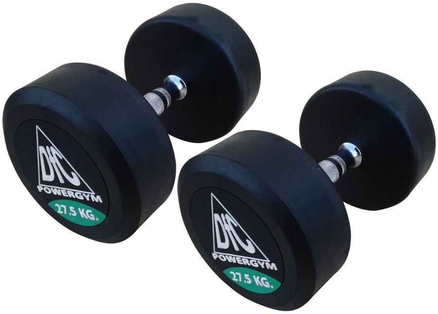 Гантельные ряды профессиональные, неразборные DFC DB002-27.5, Гантели 27.5 кг (пара), серия PowerGym