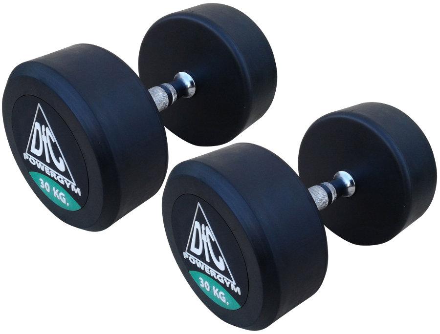 Гантельные ряды профессиональные, неразборные DFC DB002-30, Гантели 30 кг (пара), серия PowerGym