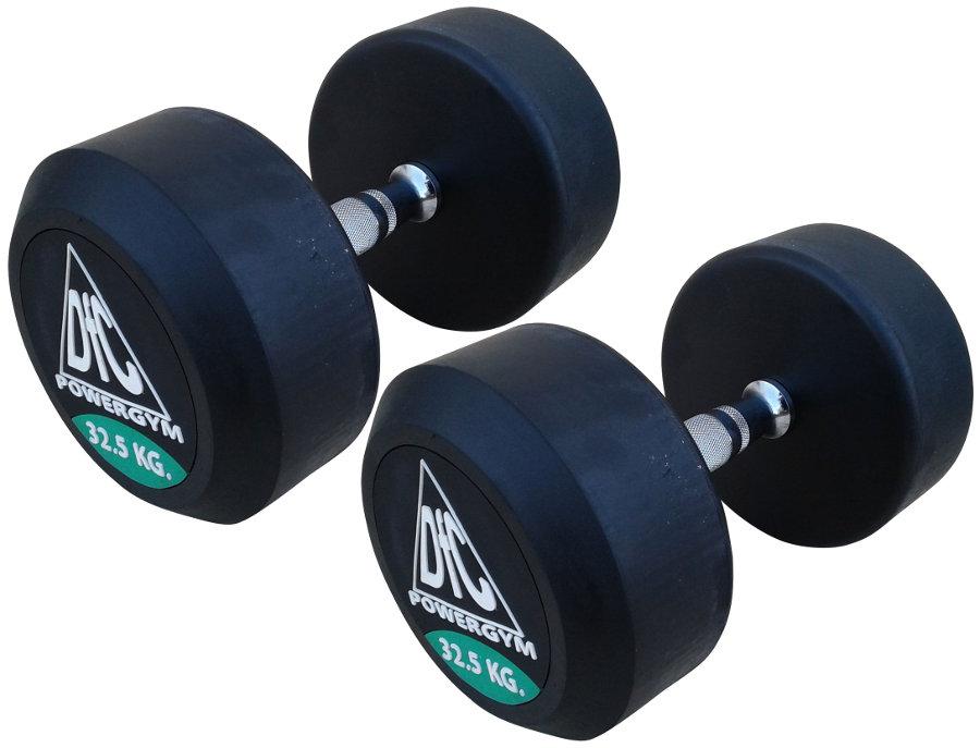 Гантельные ряды профессиональные, неразборные DFC DB002-32.5, Гантели 32.5 кг (пара), серия PowerGym