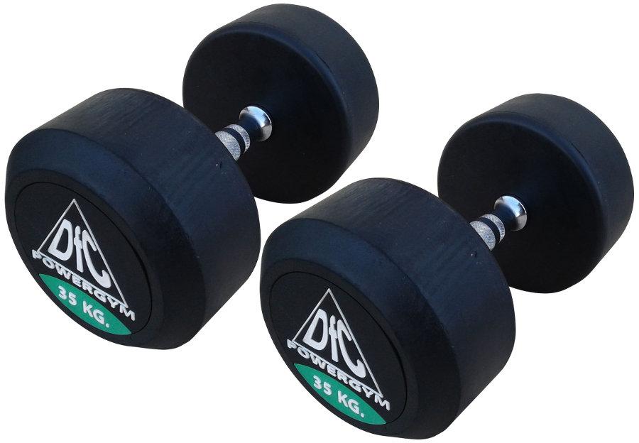 Гантельные ряды профессиональные, неразборные DFC DB002-35, Гантели 35 кг (пара), серия PowerGym