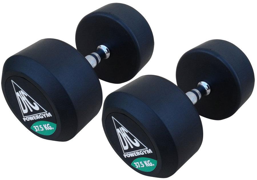 Гантельные ряды профессиональные, неразборные DFC DB002-37.5, Гантели 37.5 кг (пара), серия PowerGym