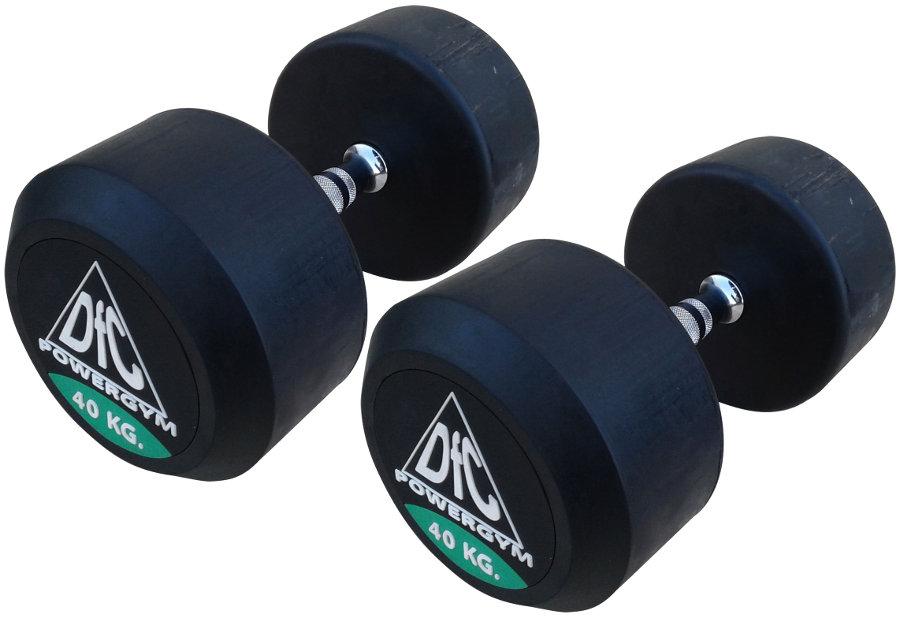 Гантельные ряды профессиональные, неразборные DFC DB002-40, Гантели 40 кг (пара), серия PowerGym