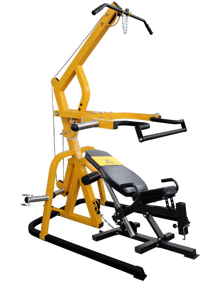 Скамьи, стойки и атлетические центры со свободной нагрузкой DFC Силовой тренажёр со скамьёй PowerGym, HM035