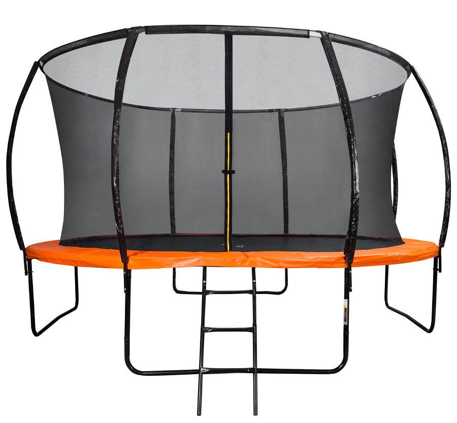 Батуты с защитной сеткой, диаметром от 3-х до 4-х метров DFC Батут 10 футов (305 см) Trampoline Kengoo с сеткой и лестницей, 10FT-TR-E-BAS