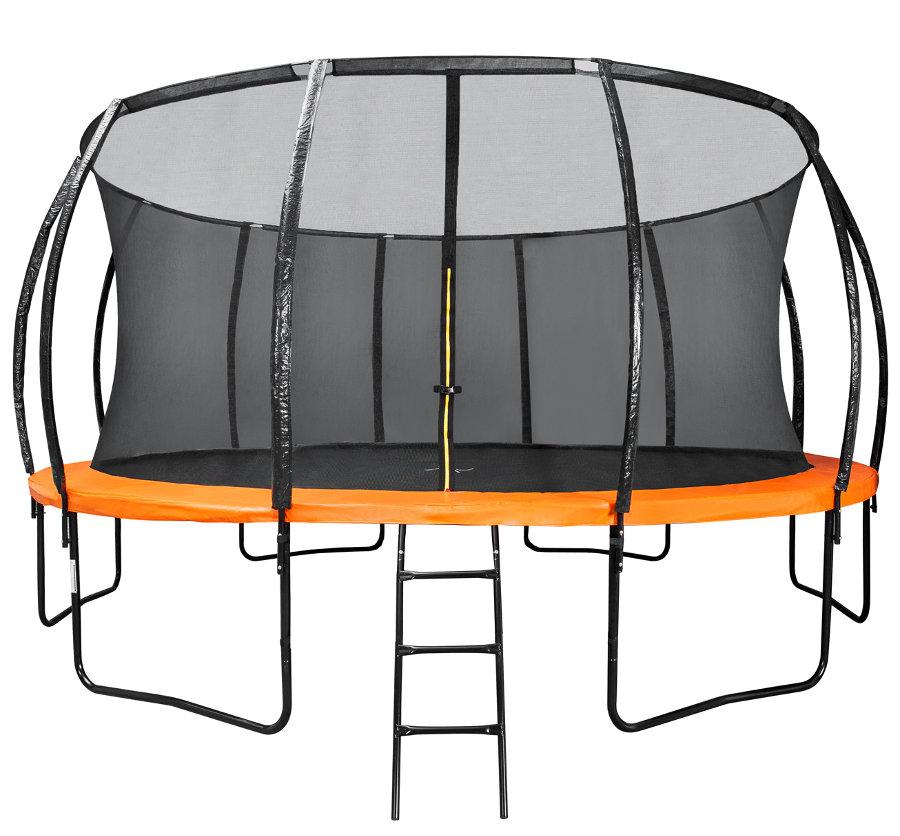 Батуты с защитной сеткой, диаметром от 12 футов (366 см) DFC Батут 20 футов (610 см) Trampoline Kengoo с сеткой и лестницей, 20FT-TR-E-BAS
