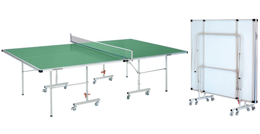 Всепогодные и влагостойкие теннисные столы DFC S600G, Теннисный стол всепогодный Tornado (зелёный)