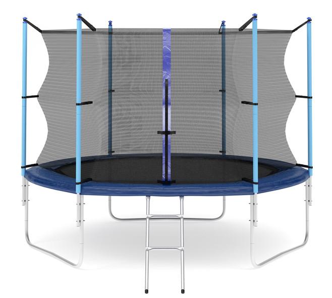 Ожидается Diamond Fitness Батут с внутренней сеткой и лестницей, диаметр 10 футов (305 см), Internal
