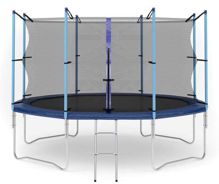 Ожидается Diamond Fitness Батут с внутренней сеткой и лестницей, диаметр 12 футов (366 см), Internal