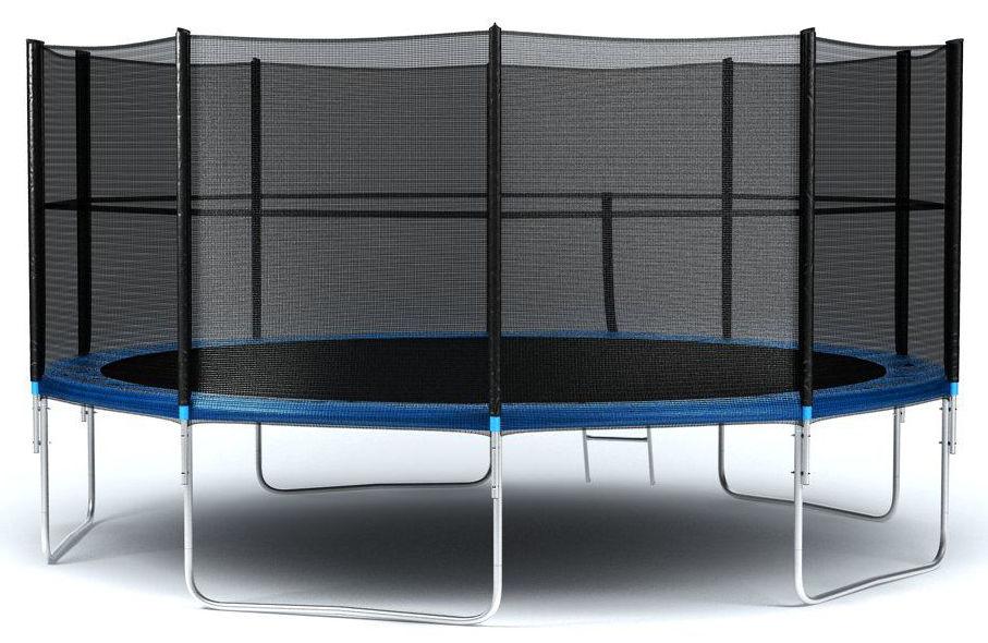 Ожидается Diamond Fitness Батут с внешней сеткой и лестницей, диаметр 16 футов (488 см), External