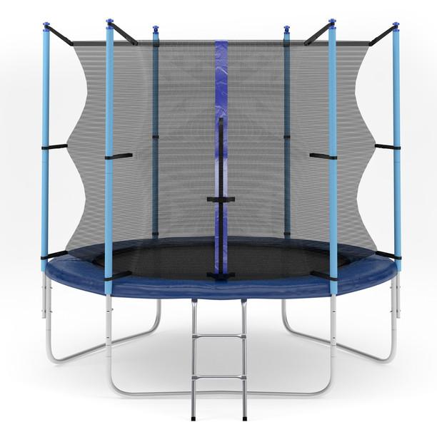 Ожидается Diamond Fitness Батут с внутренней сеткой и лестницей, диаметр 6 футов (183 см), Internal