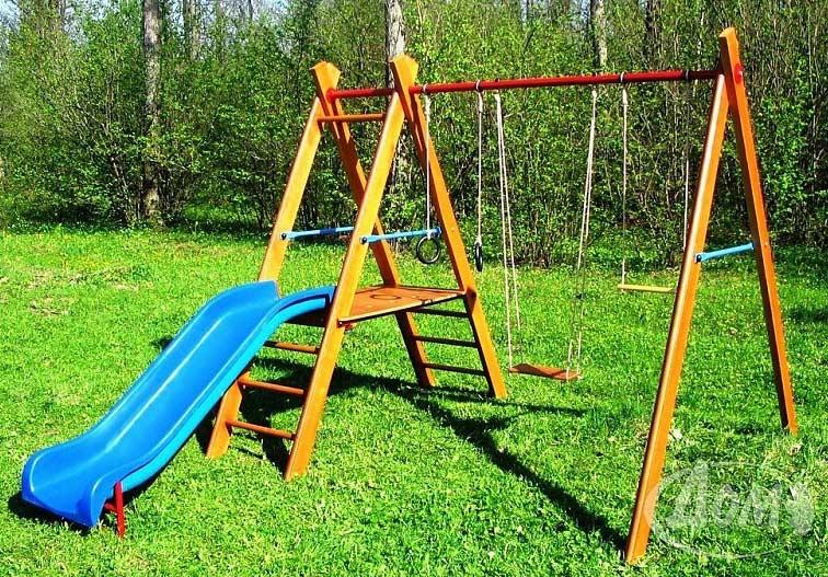 Деревянные спортивные комплексы и детские городки для установки на улице ДОМ Деревянный спортивный комплекс для улицы УДСК