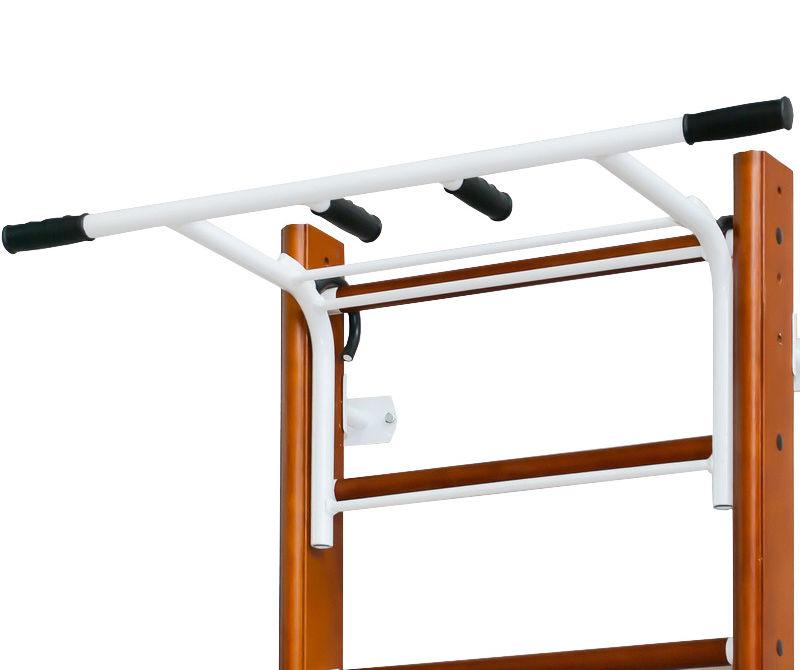Навесное оборудование и дополнения для спортивных комплексов ДОМ Турник навесной цельносварной для деревянных шведских стенок, Н105